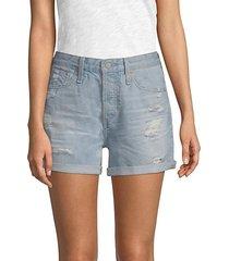 alex cut-off jean shorts