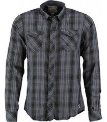 garcia zacht grijs slim fit overhemd