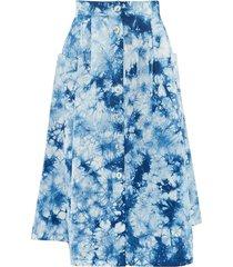 alix tie-dye twill skirt