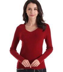 sweater básico acanalado burdeos nicopoly