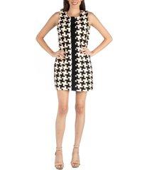 24seven comfort apparel geometric pattern sleeveless mini dress