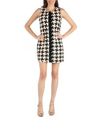 24seven comfort apparel geometric pattern sleeveless mini dress