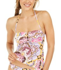 hula honey juniors' tankini top, created for macy's women's swimsuit