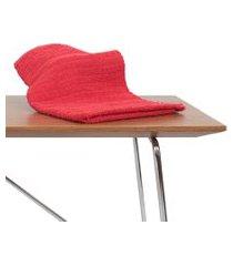 kit 10 toalha de rosto para salao de beleza, spas vermelha algodão