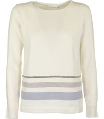 fabiana filippi long-sleeve crew neck wool and cashmere pullover