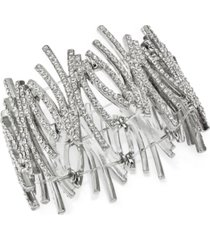 inc crystal zig-zag stretch bracelet, created for macy's