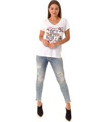 camiseta opera rock t-shirt branca - branco - feminino - algodã£o - dafiti