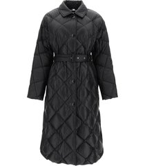 burberry mablethorpe long down jacket with belt