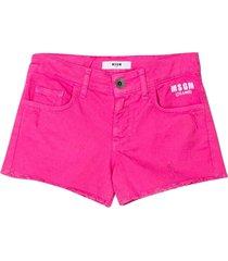 msgm fuchsia shorts teen