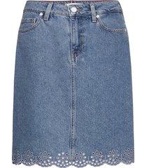 rome straight hw skirt patty korte rok blauw tommy hilfiger