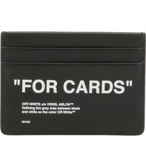 off-white quote credit card holder