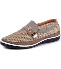 uomo casual scarpe slip-on con soletta traspirabile resistente morbida