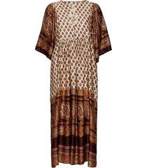 autumn drape paisley kaftan dress knälång klänning multi/mönstrad by ti mo