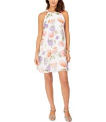 calvin klein petite and regular scattered floral trapeze dress