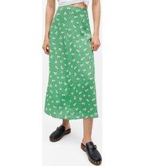 mango women's printed midi skirt