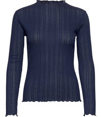 pointella trutte t-shirts & tops long-sleeved blauw mads nørgaard