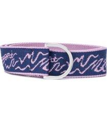m missoni logo print belt - purple