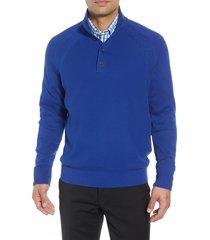 men's big & tall cutter & buck reuben pullover sweater, size 5xb - blue
