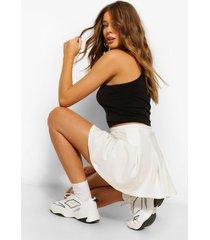 tennis rok met hoge taille, ivoor