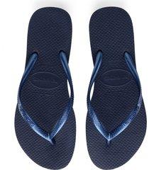 women's havaianas slim flip flop, size 39/40 br - blue