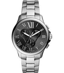 men's fossil monty chronograph bracelet watch, 44mm