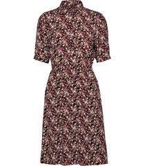 prt ss elastic waist jurk knielengte multi/patroon calvin klein