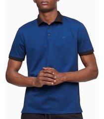 calvin klein men's liquid touch jacquard dot polo shirt