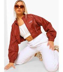 fit contour jas met biezen en rits, red
