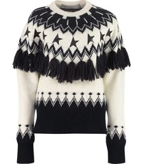 golden goose deidra jacquard sweater
