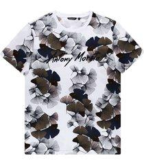 antony morato t-shirt slimfit h print white 1000