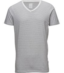 mens stretch v-neck tee s/s t-shirts short-sleeved vit lindbergh