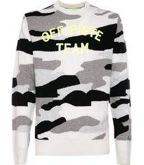 mc2 saint barth camouflage man sweater off-piste team fluo yellow print