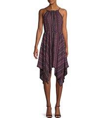 geometric halter dress