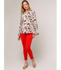 legging mujer unicolor color rojo rojo 6