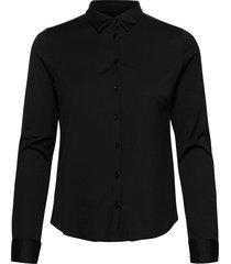 tina jersey shirt overhemd met lange mouwen zwart mos mosh