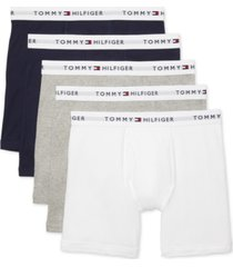 tommy hilfiger men's 5-pk. cotton classics boxer briefs