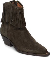 booties 4916 shoes boots ankle boots ankle boots with heel grön billi bi