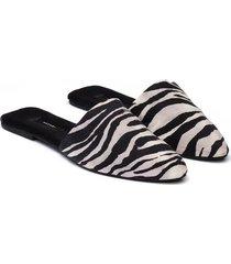 natori zebra mules bra, women's, black, size p/6 natori