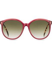 7107/s 56mm round sunglasses