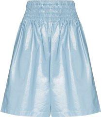 bottega veneta loose shorts - blue