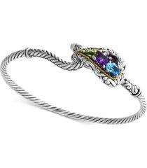 effy multi-gemstone bracelet (2-1/3 ct. t.w.) in sterling silver & 18k gold