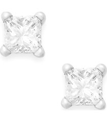 princess-cut diamond stud earrings in 10k white or yellow gold (1/6 ct. t.w.)