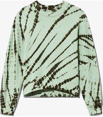 proenza schouler white label tie dye sweatshirt spanishmoss/grass/green l