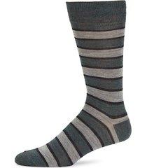 striped wool-blend crew socks