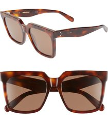 women's celine 55mm special fit polarized square sunglasses -