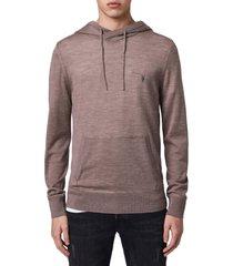 men's allsaints mode merino wool hoodie, size small - beige