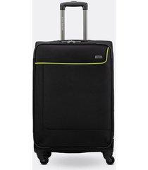 maleta de viaje mediana en lona con cuatro ruedas giratorias 00145