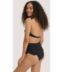 trendyol bikiniunderdel med rysch och struktur - black