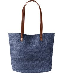 borsa shopper di paglia (blu) - bpc bonprix collection