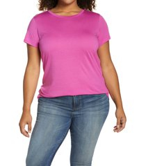 halogen(r) jersey crewneck shirt, size 2x in purple orchid at nordstrom